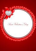 Vector tarjetas de felicitación de san valentín — Vector de stock