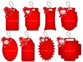 Vector set of decorative Saint Valentine's tags — Stockvektor