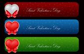 Vetores conjunto de cartões de dia dos namorados — Vetorial Stock