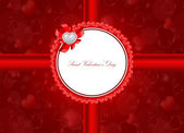 Vector Saint Valentine's Day greeting card — Stock Vector