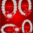 Vector set of  valentine decorative frames — Stockvectorbeeld