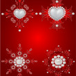 Vector set of  valentine decorative elements - Stock Vector