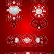 Vector set of decorative Saint Valentine&#039;s elements - Stock Vector