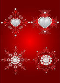 Vector set of valentine decorative elements — Vector de stock