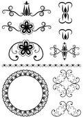 Vector set of decorative elements — Stock Vector