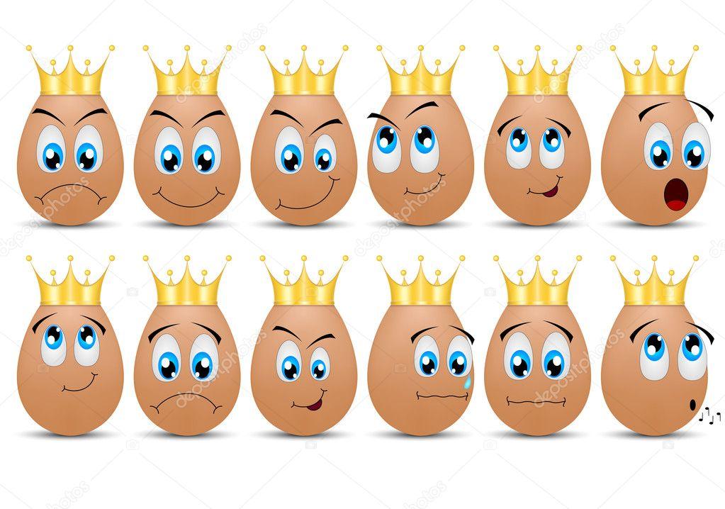 Biglietto di auguri vettoriale con uova divertente carina