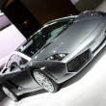 Lamborghini Gallardo LP 560-4 Noctis sport car on display — Stock Photo #8475939