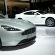 Foto Stock: Aston Martin Virage sport car on display