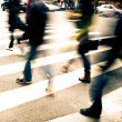 On zebra crossing — Stockfoto