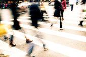 On zebra crossing — Stock Photo