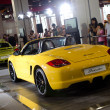 Porsche yellow boxster sport car — Stock fotografie #8491025