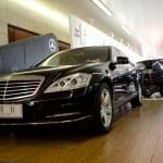 Mercedes benz car on display — Stock Photo #8491342