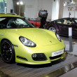 Porsche  Cayman green sport car — Stock Photo