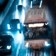 Stock Photo: Busy big city night traffic