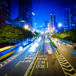 Busy big city night traffic — Stock Photo