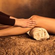 Stock Photo: Legs massage