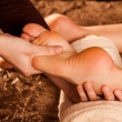 Foto Stock: Foot massage