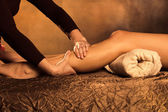 Legs massage — Stock Photo