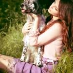 Girl and dog — Stock Photo #10503501