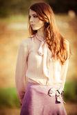 Elegant woman outdoor — Stock Photo