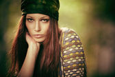 Hippy girl — Stock Photo