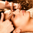 Professional face massage — Stock Photo