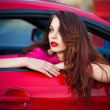 Woman in car — Stock Photo #10719025
