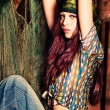 Hippie girl — Stock Photo