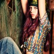 Stock Photo: Hippie girl
