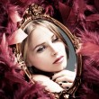 Beauty reflection — Stock Photo