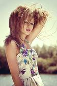 Summer woman portrait — Stock Photo