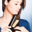 Stock Photo: Hair straightener iron
