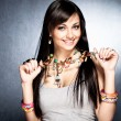 Necklace with pendants — Stock Photo #8962957