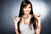 Necklace with pendants — Stock Photo