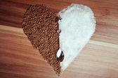 砂糖とコーヒー — ストック写真