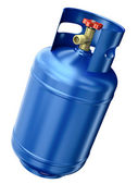 Blue gas container — Stock Photo