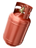 Red gas container — Stock Photo