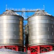Big chemical tank petrol container oil industry — Stock Photo