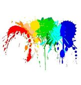 Color ink splash on the white — Stock Vector
