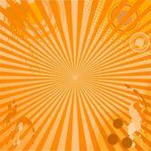 Yellow grunge background for design — Stockvector
