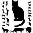 Cat silhouettes — Stock Vector #8749577