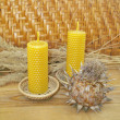 Beeswax candles — 图库照片 #9018503