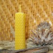 Beeswax candles — Stockfoto
