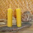 Foto de Stock  : Beeswax candles