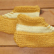 Royalty-Free Stock Photo: Hand knitted baby booties