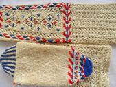 Hand knitted female socks — Stock Photo