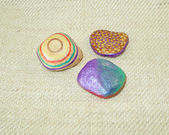 Hand painted stones — Stock Photo