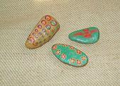 Piedras pintadas a mano — Foto de Stock