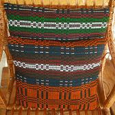 Vintage pillowcase handwoven — Stock Photo