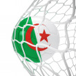 Royalty-Free Stock Photo: Algerian soccer ball inside the net